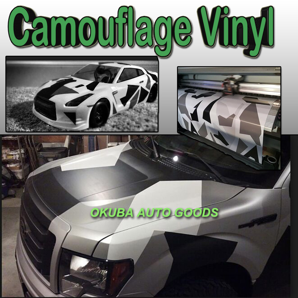 Snow Camo Vinyl Wrap Camouflage Vehicle Wrap Glossy Matte