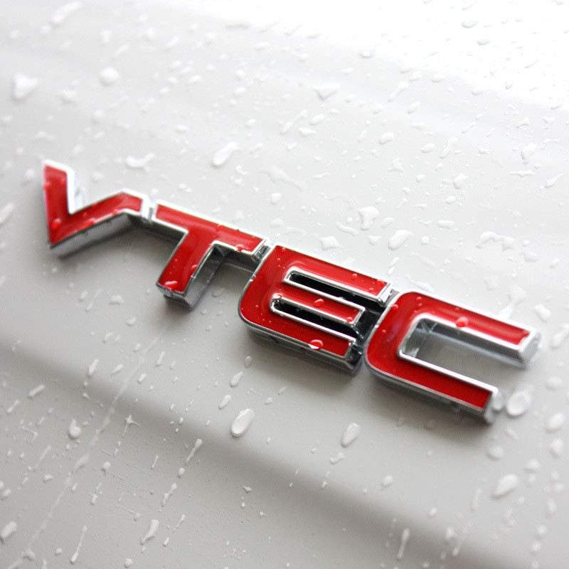 VTEC Emblem Badge Logo 3D Car Styling Metal Sticker Refit Decal Fender Tail Trunk For Honda Civic Accord Odyssey Spirior CRV Fit(China (Mainland))