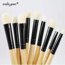 9pcs Professional Makeup Brushes Set For Eye Brushes Eyeshadow Eyeliner Eyebrow Smudge Blending Contour Makeup Tools Kit