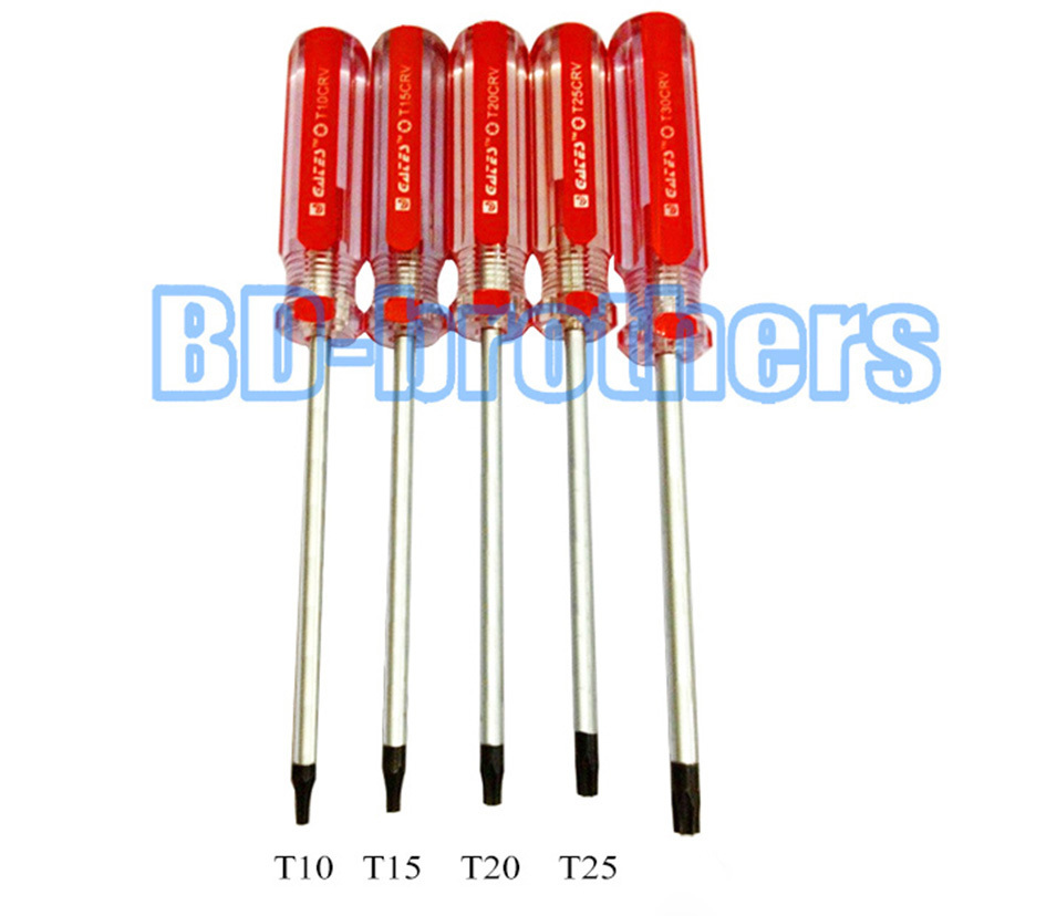 Colorful Bar PVC Handle Torx T10 T10H T15 T15H T20 T20H T25 T25H with Hole Screwdriver Screwdrivers Repair Tool 384pcs/lot<br><br>Aliexpress