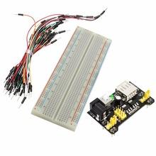 Buy 3Set/Lot 3.3V/5V MB102 Breadboard Power Module + MB-102 830 Points Prototype Bread board Arduino Kit + 65 Jumper Wires for $17.49 in AliExpress store