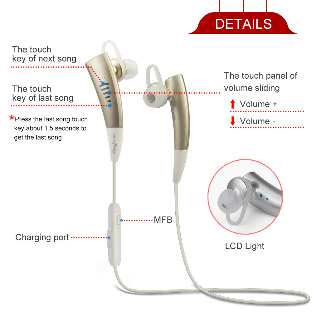 TS750 Wireless Bluetooth Earphone Headphone Headset Portable Stereo Sport Headphones For Iphones Xiaomi Consumer Electronics New