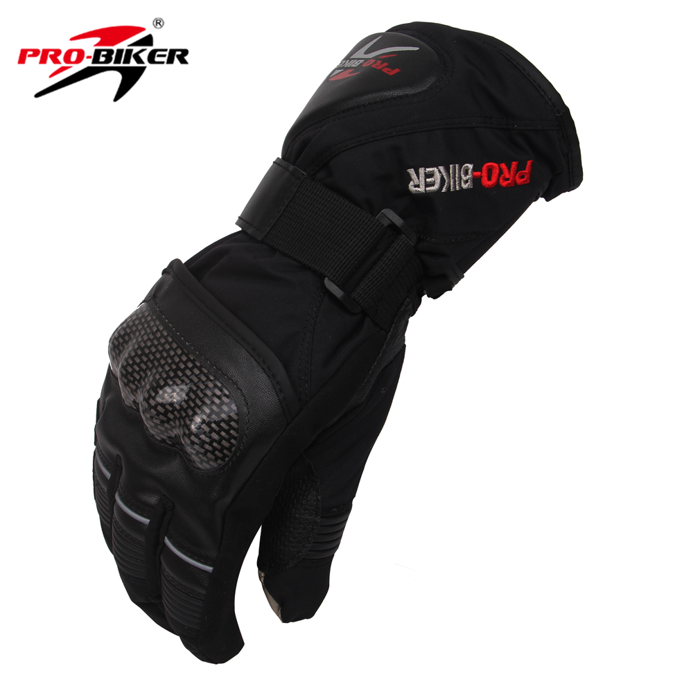 PRO-BIKER Outdoor Sport Waterproof Gloves Winter Thermal Warm Motorcycle Motocross Cycling Skiing Snowboarding Gloves Guantes(China (Mainland))