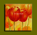Decorative red tulip wall panels Abstract beautiful art canvas hand painted oil painting on canvas living