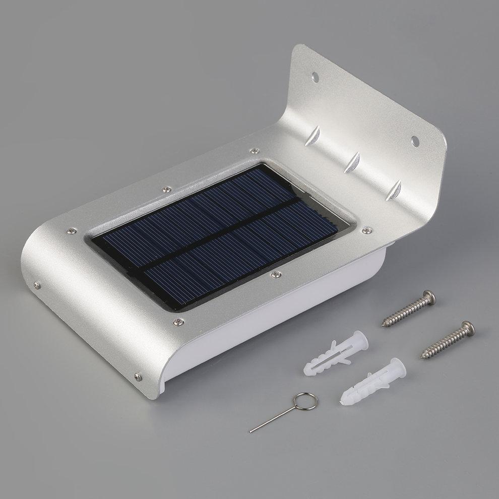 16 led solar power motion sensor garden security lamp. Black Bedroom Furniture Sets. Home Design Ideas