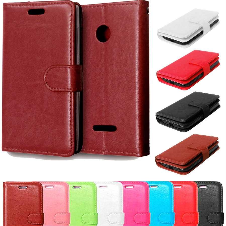 Amazing Cover Case For Microsoft Lumia 435 Luxury Book Style Wallet Flip Case For Nokia Lumia 435 replacement back case cover(China (Mainland))