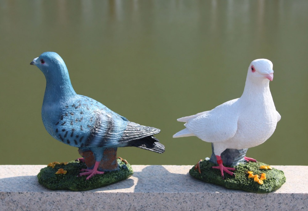 Indoor , outdoor ,Home & Garden polyresin decoration peace dove Set 2(China (Mainland))
