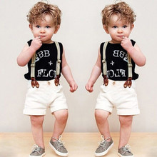 Buy 2017 Baby Boy Clothes Summer Children Boy Clothing Sets Kid Baby Clothes Roupas Bebes Baby Boy Rompers Infant Jumpsuits for $8.70 in AliExpress store