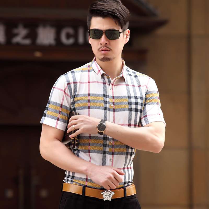 mens slim fit short sleeve dress shirts « Bella Forte Glass Studio