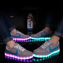 Led shoes for adults 7 Color USB charging Led luminous shoes women casual shoes light up shoes