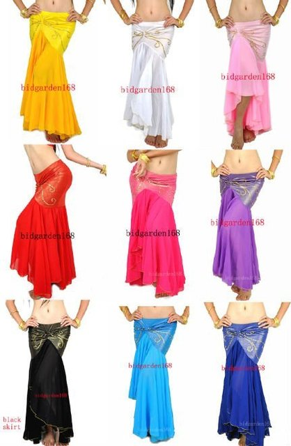 10pcs/lot Tribal Belly Dance Fishtail Skirt Womens Costume Accessories Sexy Yoga mixed colors /belly dance skirt free shipping
