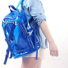 Transparent Clear Plastic Waterproof Backpack for Teenage Girls PVC School Bags Shoulders Bag(China (Mainland))