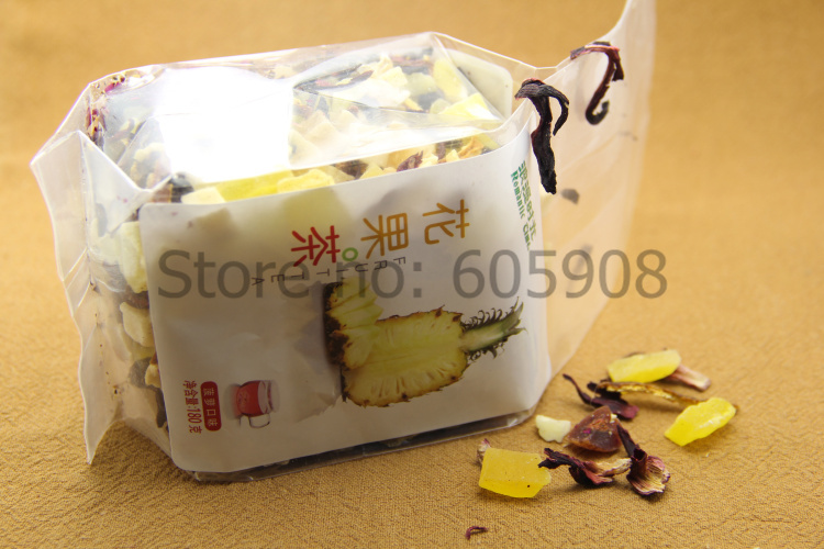 180g Pineapple Flavor*Assorted Dried Fruit Tea With Picture Pack Food Tea<br><br>Aliexpress