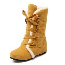 DORATASIA 2019 Big Size 30-52 Tùy Chỉnh nữ Mùa Đông Giày Thoải Mái Mùa Đông Giày Thời Trang Ấm Người Phụ Nữ Tuyết giày(China)