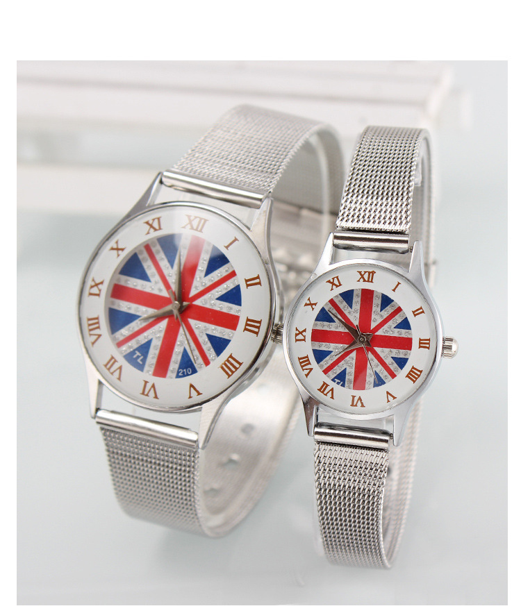 2015 New Accessories Fashion Union Jack Watch Women White colors Jewelry Lady Gift YS038 - Weilong Store store