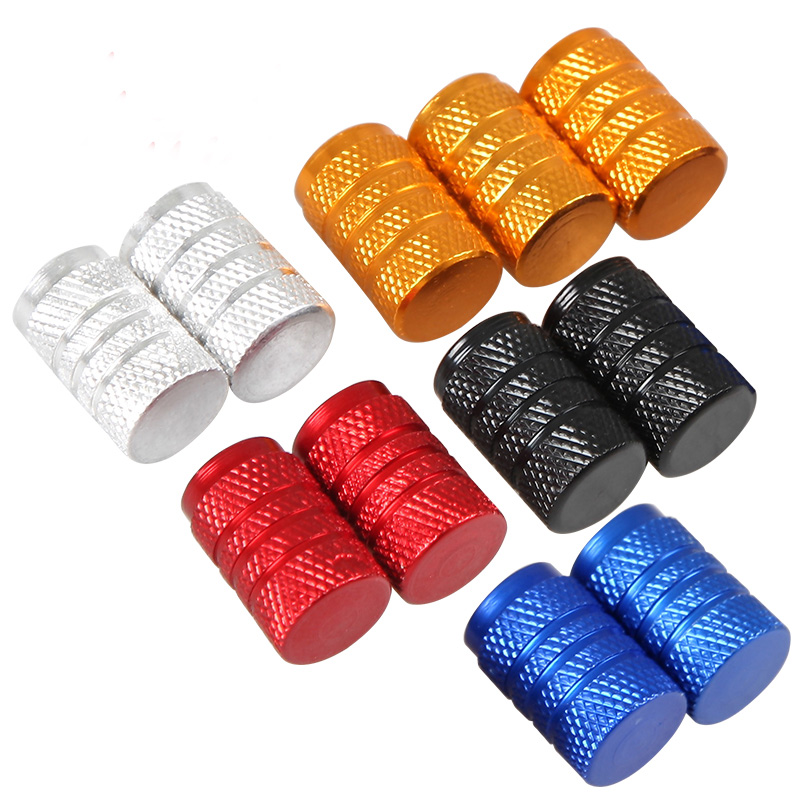 Universal 4 PCS Aluminum Auto Bicycle Car Tire Valve Caps Tyre Wheel Ventile Air Stems Cover Airtight rims Accessories styling(China (Mainland))