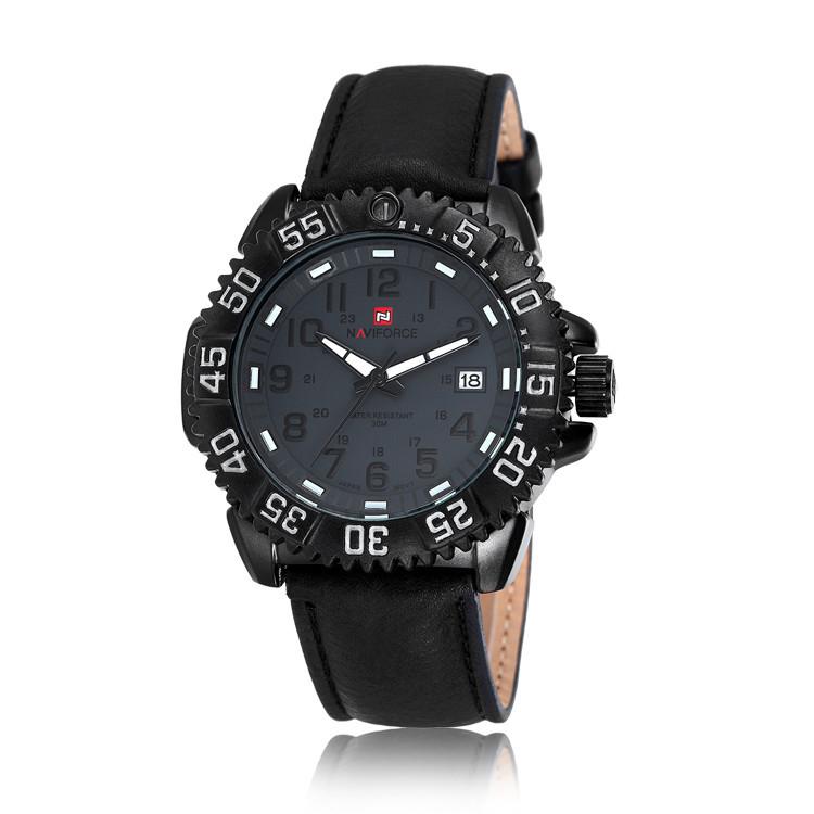 NAVIFORCE Relogio Masculino Date Leather Strap Military Quartz Watch Men Fashion Casual Sports Watch Clock Men Wristwatch,NF9041<br><br>Aliexpress