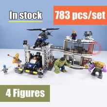 Novos Super-heróis Vingadores 4 caber vingadores marvel thanos endgame ironman figuras Blocos de Construção tijolos de Brinquedo 76123 76124 76125 76126(China)