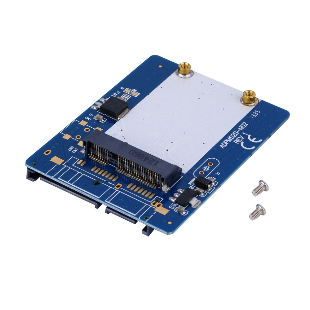 In stock! High Quality 2.5-inch Blue High-capacity high-power Serial mSATA to SATA Adapter Newest(China (Mainland))