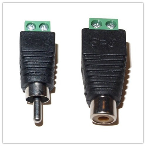 5Pairs CAT5 To Camera CCTV Video Balun RCA female+male jack AV Screw Terminal Connector, RCA MF to terminal Block(China (Mainland))