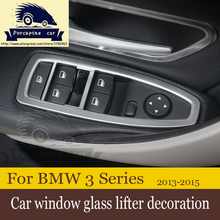 Buy Car window glass lifter decoration ABS Chrome 2013-2015 BMW 3 Series F30 320li GT/F20 116i 118i for $12.99 in AliExpress store