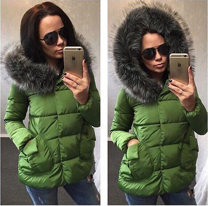 Куртки женские зимние зеленые