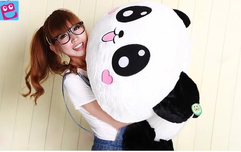 Stuffed animal lovely panda Lying Panda cushion about 27 inch plush toy 70cm panda doll throw pillow wp2610(China (Mainland))