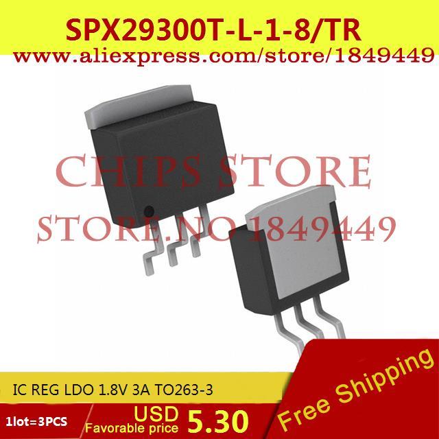 Бесплатная Доставка Diy Интегральных Схем SPX29300T-L-1-8/TR IC REG LDO 1.8 В 3A TO263-3 SPX29300T-L-1-8 29300 SPX29300 3 ШТ. бесплатная доставка интегральные схемы типов lt1762ems8 3 3 tr ic reg ldo 3 3 в 15a 8 msop lt1762ems8 3 3 1762 lt1762 3 шт