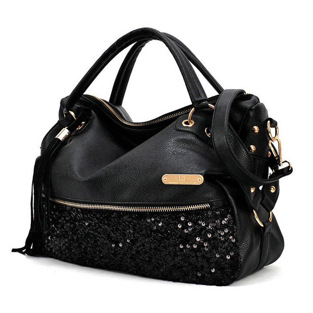Simple Womens Shoulder Bags Michael Kors Sutton Large Black Leather Tote