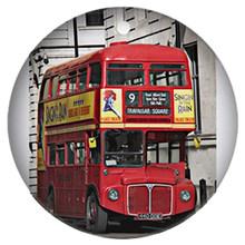 ZDYING 5 pcs Vintage Red London Bus Rotondo Di Vetro Cabochon Dome Demo Perline Posteriore Piana Che Fanno I Risultati Per La Collana Portachiavi spilla(China)