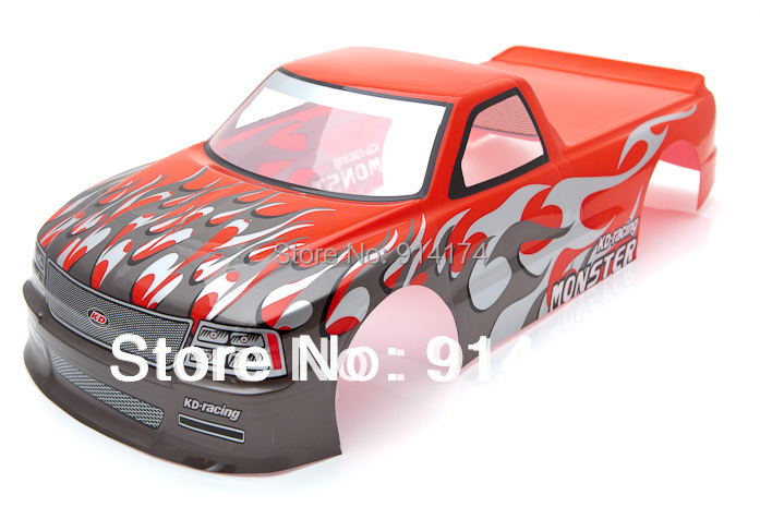 1/10 RC car PVC painted body shell 1/10 RC car Pick Up Truck 190mm S029R 2pcs/lot free shipping(China (Mainland))