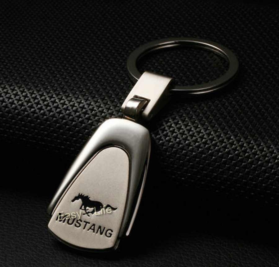 Stainless Car Logo Key Chain Ring For Ford Mustang GT500 Boss 302 Saleen Roush(China (Mainland))