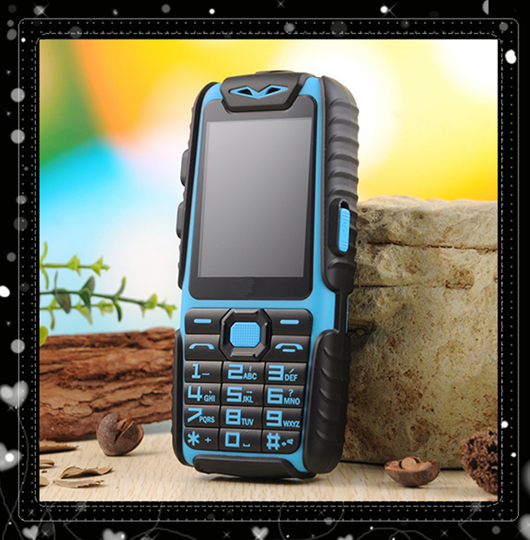 2016 Outdoor phone A6 Mobile Phone Rainproof long standby 2.4 inch A6 Dustproof Shockproof Children sport cell phone 2 SIM card(China (Mainland))