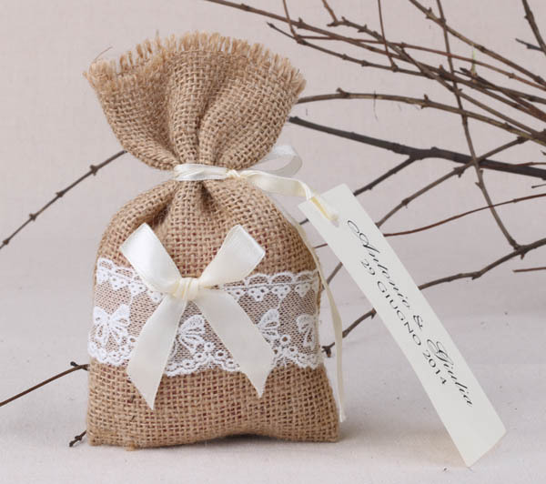Burlap Wedding Favor Bags Wholesale : Rustic favor bags, burlap favor bags lace favor bag for rustic wedding ...