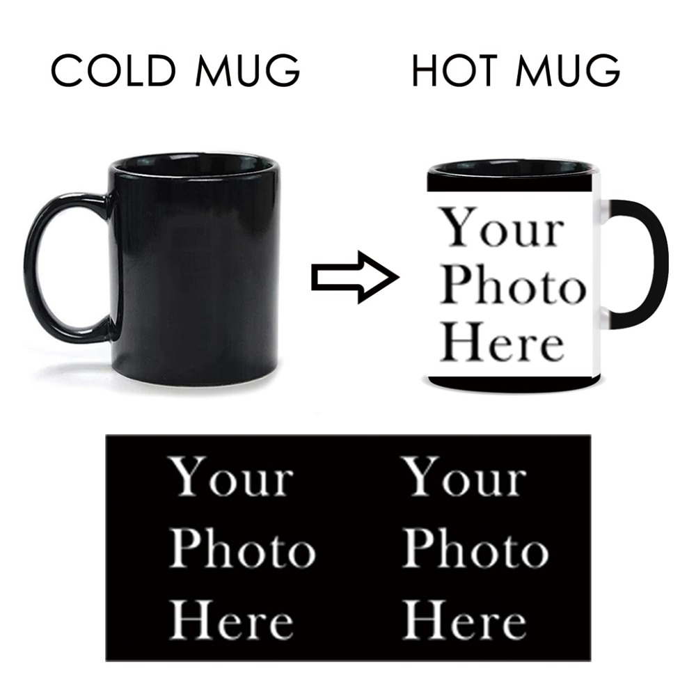 Customized Heat Activated Mugs Coffee Tea Cup Color Change Magic Mug With The Text Or Image Good Gift Fasion Design Ceramics Cup(China (Mainland))