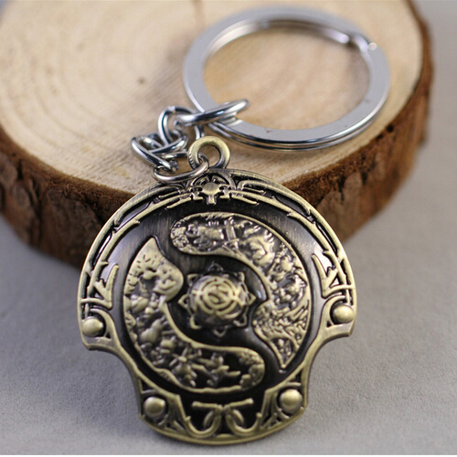 Hot New Dota 2 Immortal Champion Shield Key Chain Car Pendant On Line Jewelry Accessories For Men Women Gift Home Page Wholesale(China (Mainland))