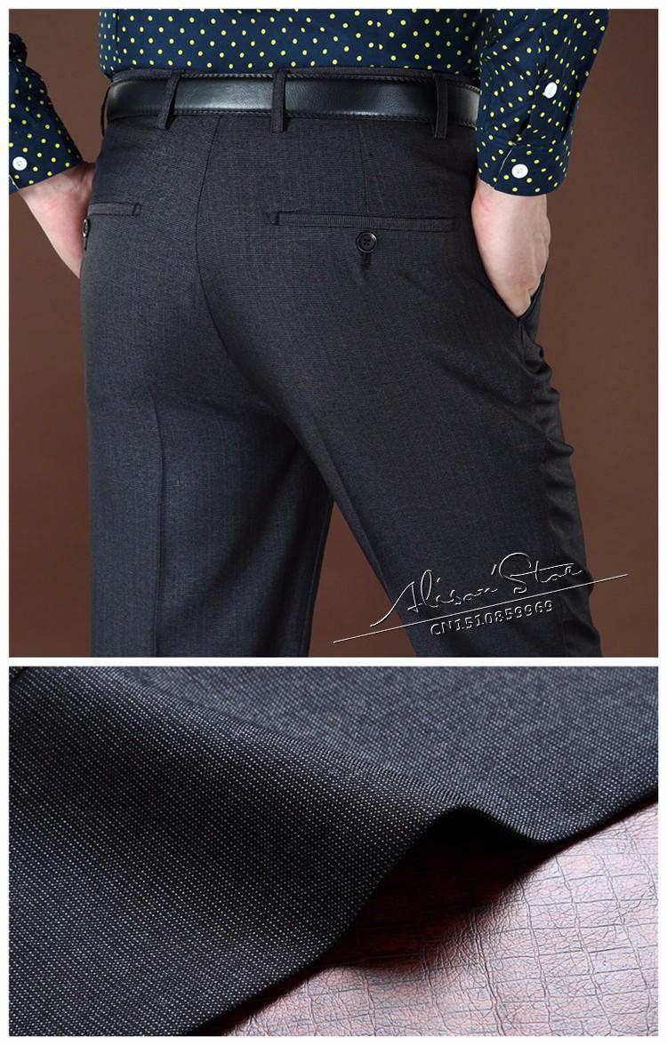 Мужская официально костюм брюки шерсти и шелка сгущает бизнес брюки зима мужские классические брюки прямо для мужчин большой размер 44