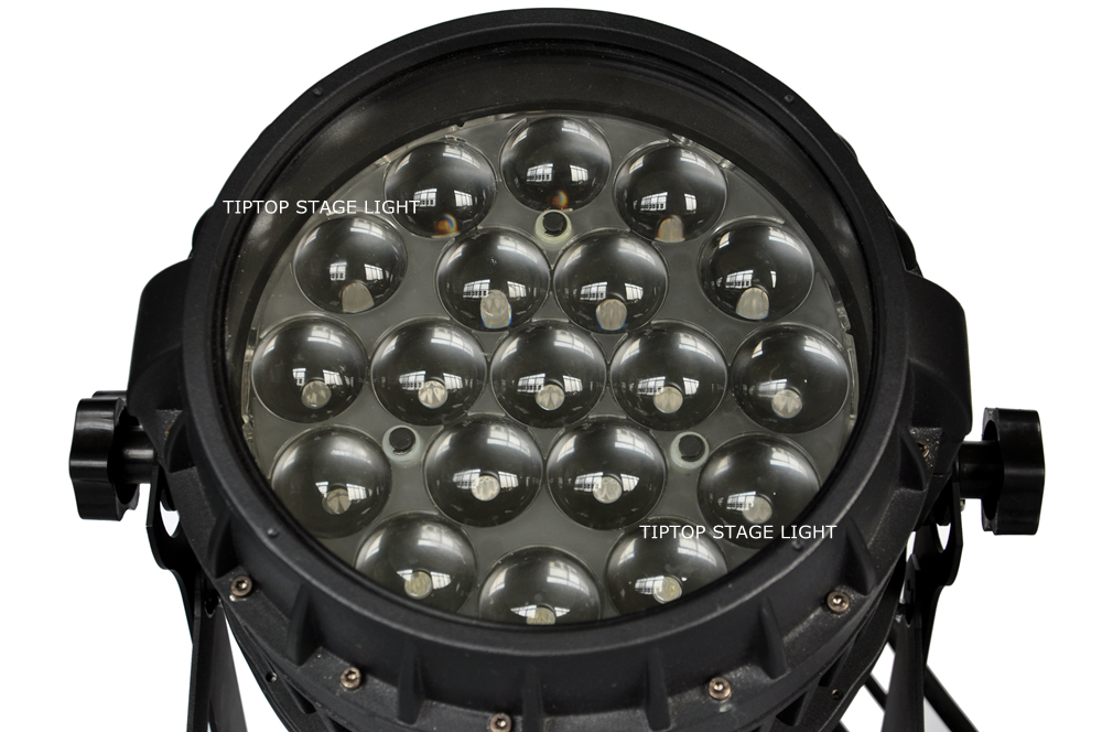 Freeshipping 19x12W RGBW 4IN1 Led Zoom Par Light 10-50 Degree Beam Adjustable Osram Lamp High Power Color Individual Control