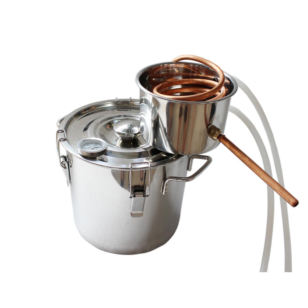 10l stainless boiler home brew kit equipment household water alcohol distiller in bar sets from. Black Bedroom Furniture Sets. Home Design Ideas