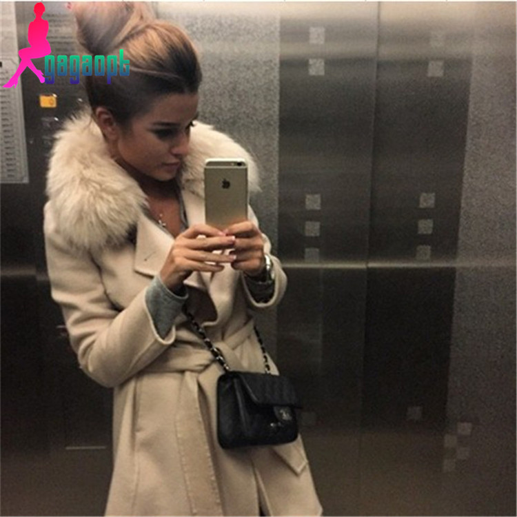 Modno 2015 winter womens Double Breasted big fur collar Plus Size Wool Coat long Winter Jackets parka coats Outerwear Одежда и ак�е��уары<br><br><br>Aliexpress