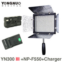 Yongnuo YN300 III 5500K CRI95 LED Video Light w NP-F550 Battery & Charger DSLR Camera Photography Photo Studio lighting Lamp(China (Mainland))