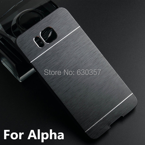 Luxury Metal Brush Aluminum+PC Material Hard case For Samsung Galaxy Alpha G850 G850F G8508S Mobile Phone case Metal Back Cover(China (Mainland))