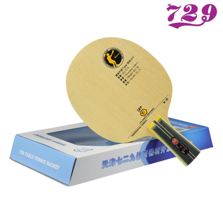 Friendship 729 V5 7 Ply Carbon Table Tennis Blade V-5 Racket Ping Pong Bat - BestBuyer Sports store
