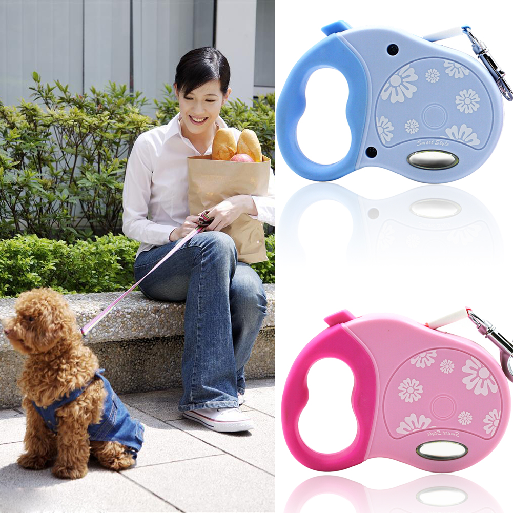 New 3M Puppy Cat Automatic Leash Pet Retractable Dog Leads Extending Puppy Walking Rope Extendable Walking Leash 2 Color(China (Mainland))