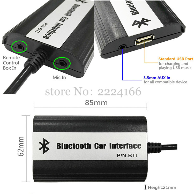 Sitaile Car Mp3 Music Players Bluetooth A2dp Adapter For
