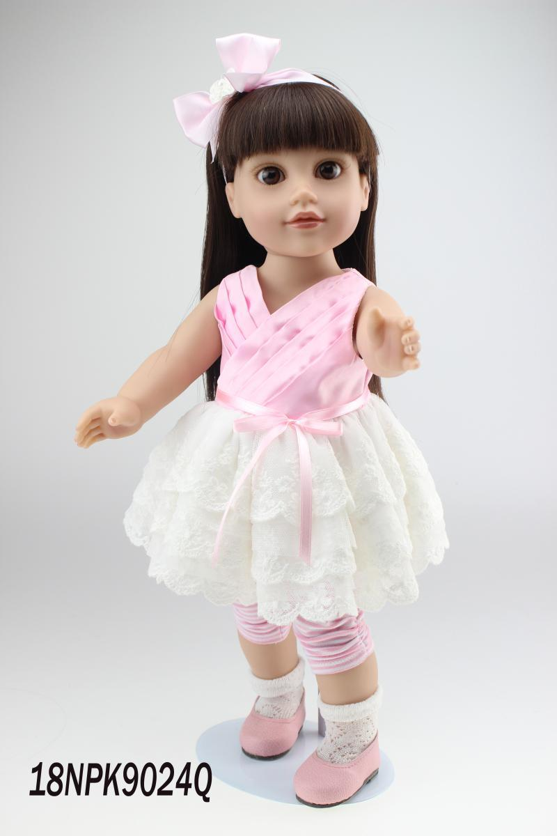 "2015 Cute 18"" High Quanlity Journey Girl Hot 45cm American Girl Doll lifelike Baby Toy for Chird(China (Mainland))"