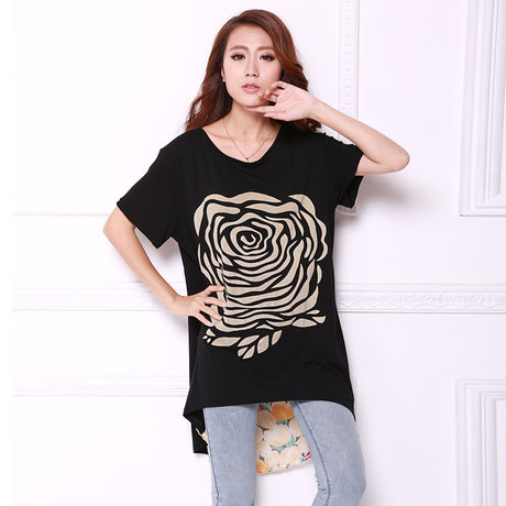 t shirt 2015 summer style long loose t shirt women camiseta feminina tee shirts femme ladies. Black Bedroom Furniture Sets. Home Design Ideas