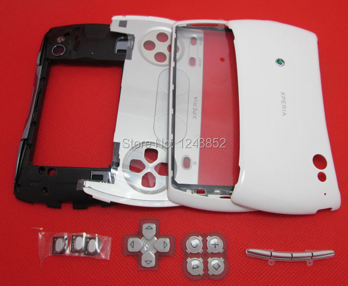 New Original Full Housing Cover Case keyad button For Sony Ericsson Xperia Play R800 Z1i R800i Free shipping +Tracking(China (Mainland))