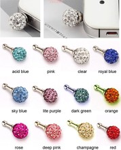 100X CRYSTAL BALL DUST COVER PLUG FOR MOBILE PHONES IPAD IPHONE(China (Mainland))