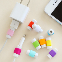 Best Sellers Fashion New USB Cable Earphones Protector Colorful Cover For  Apple Iphone 4 5 6 Plus For Android  6s s6 note 5(China (Mainland))